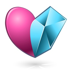 Heart Pink Blue vector image vector image