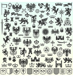 Heraldic Design Elements vector