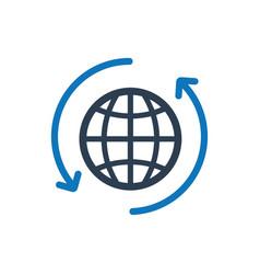 International money transaction icon vector