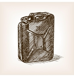 Jerrycan sketch style vector image