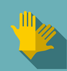Latex gloves icon flat style vector