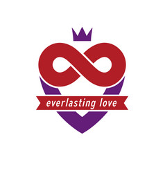 Love forever conceptual sign symbol created with vector