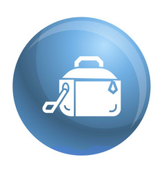 Metal lunch box icon simple style vector