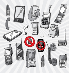 Mobile Phones and Other Devices vector image