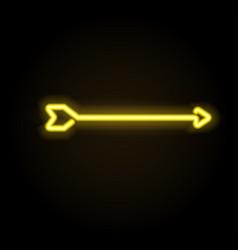 Neon glowing arrow pointer vector