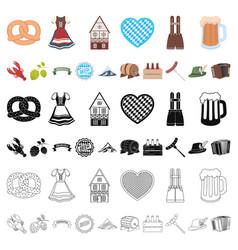 October festival in munich cartoon icons in set vector