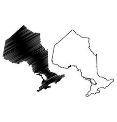 Ontario canada map vector