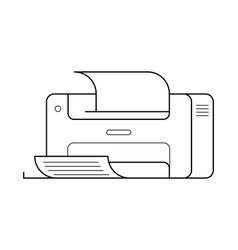 printer line art simple gadget icon vector image