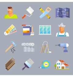 Renovation Flat Icons Set vector image