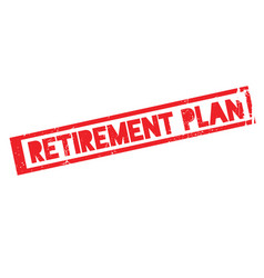 Retirement plan rubber stamp vector