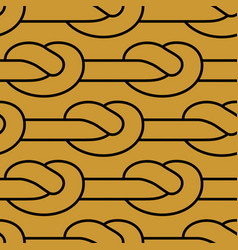 Rope node pattern bonded twine ornament textile vector