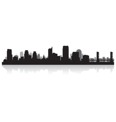 Sacramento USA city skyline silhouette vector