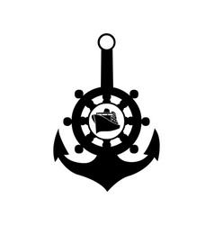 sea anchor vector image