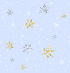 Seamless pattern with sparkling gold and silver vector