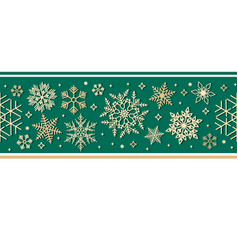 Seamless ribbon with christmas snowflake pattern vector
