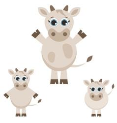 set cute cows vector image