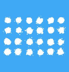 Set milk drops isolated vector