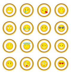 smiles icons circle vector image