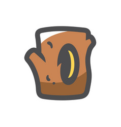 tree hollow hole in wood icon cartoon vector image