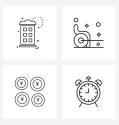 Ui set 4 basic line icons light house alarm vector