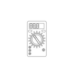 Voltmeter measurement voltage flat icon vector