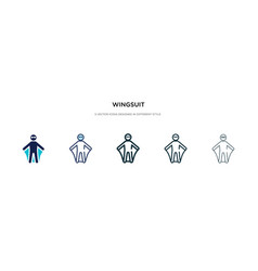 wingsuit icon in different style two colored vector image