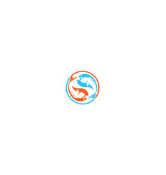 yin yang fish logo icon vector image