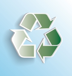 3D Recycle Icon vector image