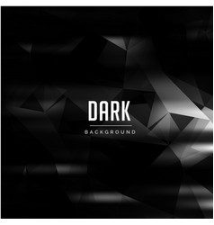 black abstract polygonal pattern dark background v vector image