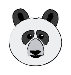 cute face panda bear animal asia wildlife vector image