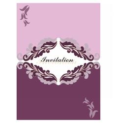 Floral ornament invitation card vector