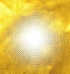 Gold lights abstract banner halftone circle vector image