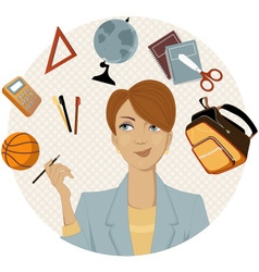 Planning a back to school shopping vector image vector image