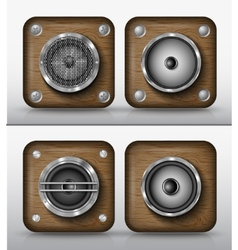set of icons applications of wood vector image vector image