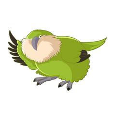 cartoon greeting kakapo vector image