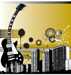 city guitar vector image vector image
