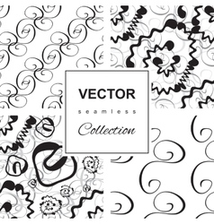 Curly or Swirly hand drawn background vector image vector image