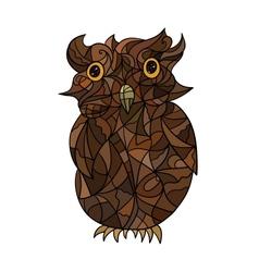 Decorative stylized owl vector image vector image