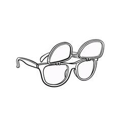 retro wayfarer sunglasses with removable lenses vector image vector image
