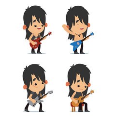 rock musicians vector image vector image