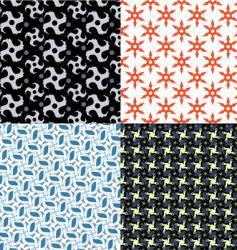 shuriken patterns vector image vector image