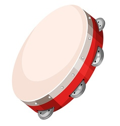 Hand drum on white background vector image