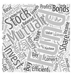 Mutual Funds A Secure Investment text background vector image vector image