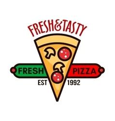 Original italian pizza badge for pizzeria design vector image