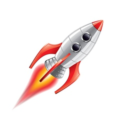 rocket isolated vector image