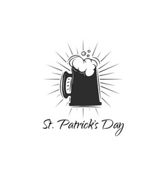 st patrick s day beer lettering text vector image