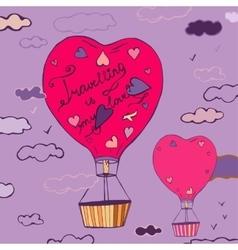 Air Balloons Travel 03 A vector image