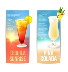 Cocktails banner set vector image