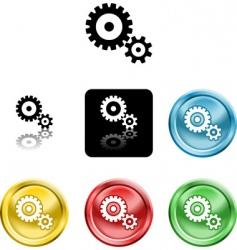 cog gears icon symbol icon vector image vector image