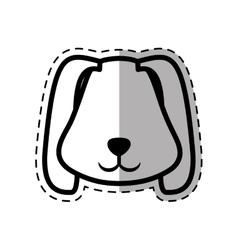 face puppy animal pet ear long dot line shadow vector image vector image